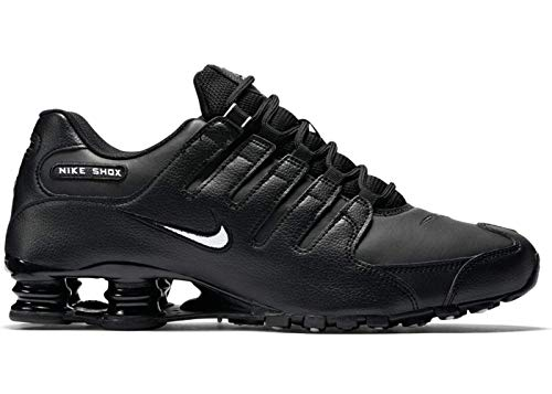 Nike Men's Shox NZ Running Shoe Black/White/Black - 14 D(M) US ()