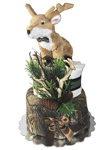 Deer Diaper Cake for a Boy - Baby