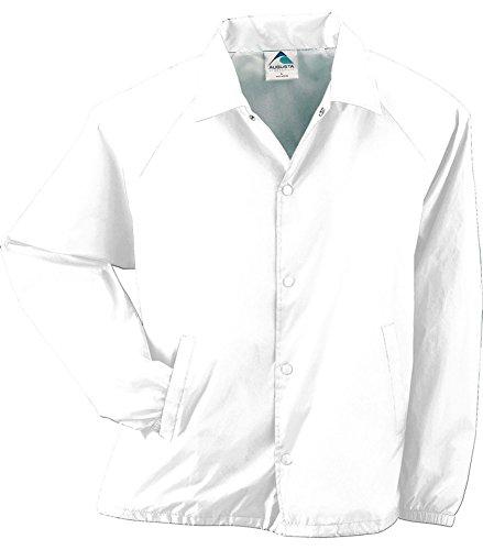 - Augusta Sportswear Lined Nylon Coach's Jacket, Large, White