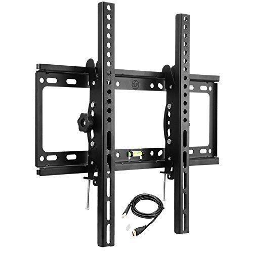Foho mounts tilt tv wall mount bracket for 32 55 lcd for Tv wall mount tilt down