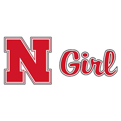 (Nebraska Decal RED N HUSKERS GIRL DECAL 6