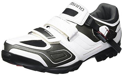 Shimano Scarpe da Bicicletta MTB, con Velcro, Unisex, Bianco, 47 EU