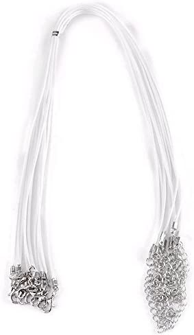 10X Lots PU Leather Cord Chain Necklace with Lobster Clasp Jewelry Findings