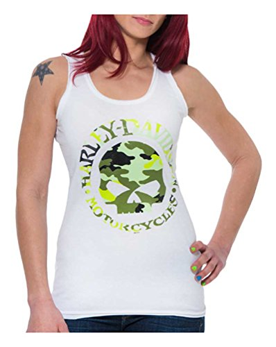Harley-Davidson Women's Concealed Camo Willie G Skull Sleeveless Tank Top (2XL) (Harley Davidson Camo)
