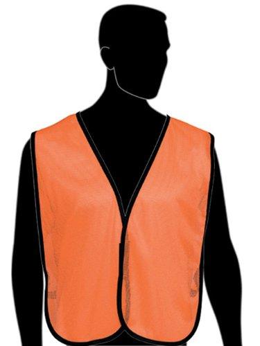Fluorescent Orange Liberty HiVizGard Polyester General Purpose Plain Mesh Vest Pack of 6