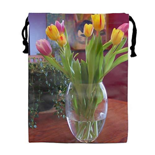(1pcs Tulips Vase Pot Table Sling Bag Backpack Waterproof Party Favor Girl Birthday)