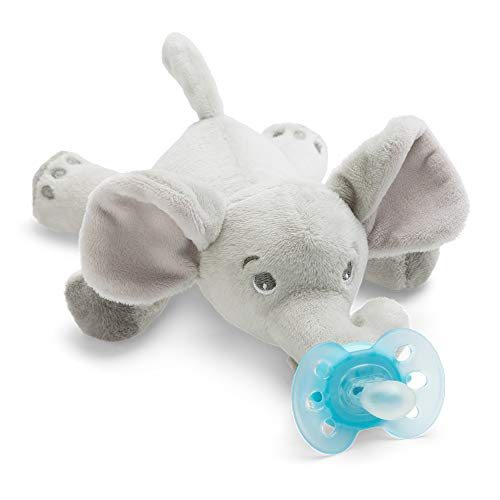 Philips Avent Snuggle Olifant Fopspeen, 0M+, Knuffel met Ultra-Soft Speen, Orthodontisch, BPA-Vrij, Eenvoudig Schoon Te…