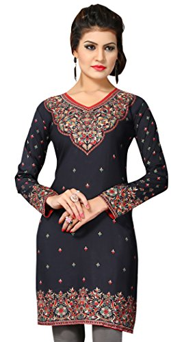 Indian Tunic Top Womens Kurti Printed Blouse India Clothing – Small, L 146