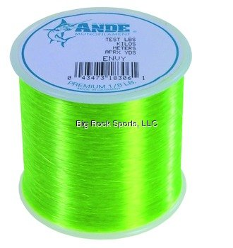 Ande A18-12GE Premium Monofilament, 1/8-Pound Spool, 12-Pound Test, Bright Green Finish