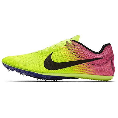Nike Zoom Victory Distance Track Spikes Shoes Mens Size 6 (Volt, Pink, Black) (Zoom Victory Nike)