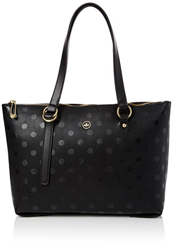 Nica Women's Nova Shoulder Bag Black (Black Polka)