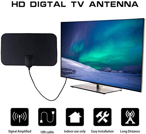 VALiEY HDTV & DTV Caja de TV Digital de Antena, 4K 25DB Alta Ganancia 50 Millas Booster Activo de Interior HD Antena Plana diseño: Amazon.es: Deportes y aire libre