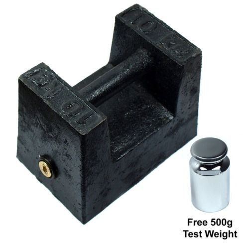 (10 KG Cast Iron Calibration Weight with 500g Test)