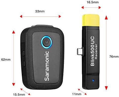Saramonic 2.4GHz Sistema de micrófono inalámbrico ultracompacto ...