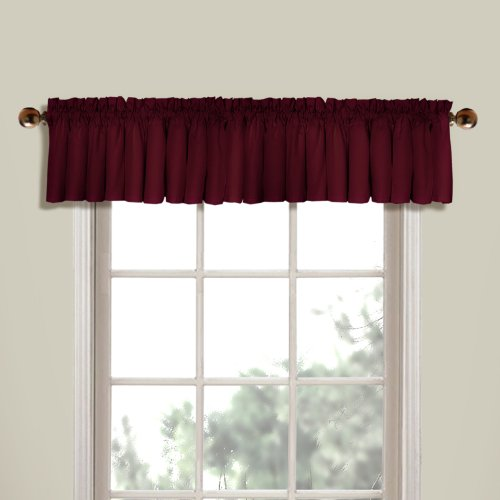 UPC 021371016346, United Curtain Westwood Straight Valance, 56 by 16-Inch, Burgundy