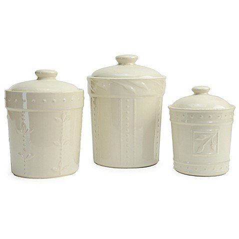 Signature Housewares Sorrento Collection Canisters Set of 3 Ivory ()