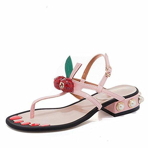 Leopard Print Wedge Slingback - Zarbrina Women's Flat Sandals Casual Wedge Platform Girls Slingback Thong Strap Summer Beach Shoes
