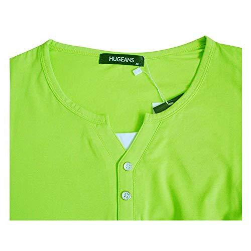Blu Blu Blu Large Unita FuweiEncore Tinta Corta Shirt Shirt Shirt Dimensione T Blu Larga in X Colore Cotone Manica Uomo 6aHPw6qF