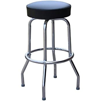 Richardson Seating Retro 1950s Backless Swivel Bar Stool with Black Seat - 24\   sc 1 st  Amazon.com & Amazon.com: Richardson Seating Retro 1950s Backless Swivel Bar ... islam-shia.org