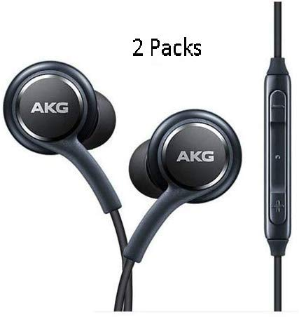 in Ear Stereo Headphones with Microphone Compatible with Samsung Galaxy S10 S10+S9/S9+ S8/S8+ Note8 / Note9 S7 S7 Edge- Earbuds Remote 2 Pack Premium