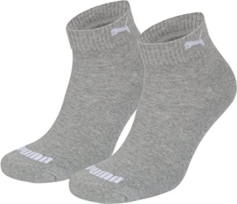 Amazon.com  2 pairs of Puma Quarter Socks with terry sole Gr. 35 ... 4e67a22cee94e