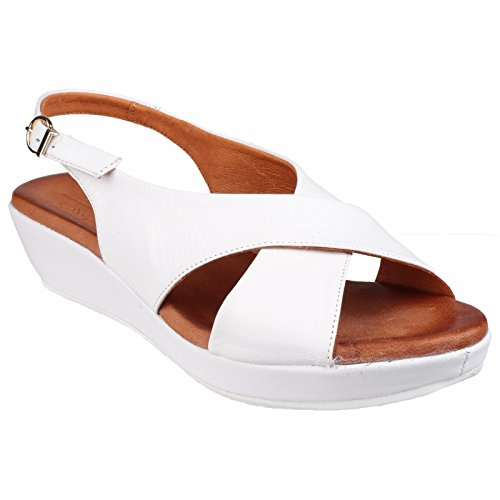 Riva - Sandalias de vestir para mujer Blanco - blanco