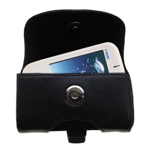 Designer Gomadic Black Leather O2 XDA II Mini Mini Pro Belt Carrying Case - Includes Optional Belt Loop and Removable ()