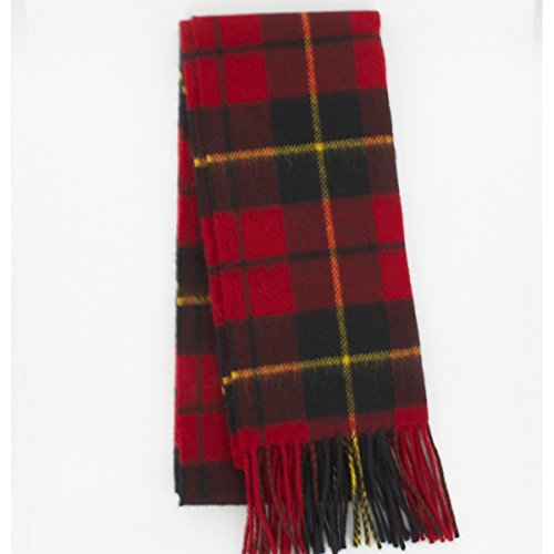 Wallace (Red) Tartan Lambswool Scarf Brushed Wool Scarf