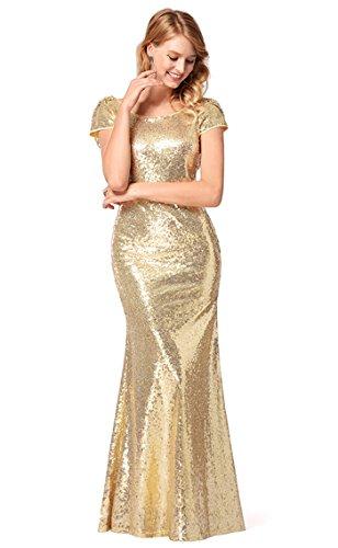FOLOBE lentejuelas de la mujer vestido de noche vestido de fiesta A