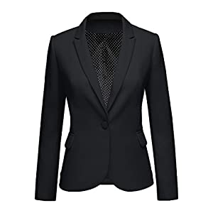 ACKKIA Women Business Casual Notched Lapel Pocket Work Office Blazer Jacket Suit