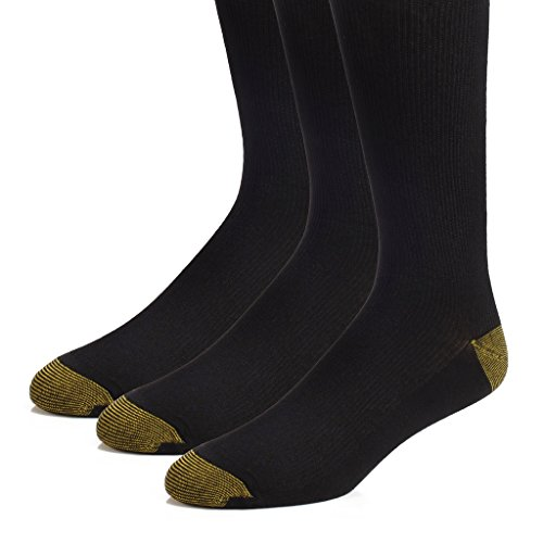 [The Right Fit Men's Extra Long Cotton Ribbed Over-the-Calf Dress Socks, Black, 3 Pack, 10-13] (Mens Referee Costumes)