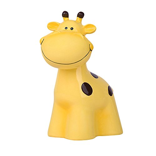 Baidecor Resin Yellow Giraffe Money Box Piggy Bank