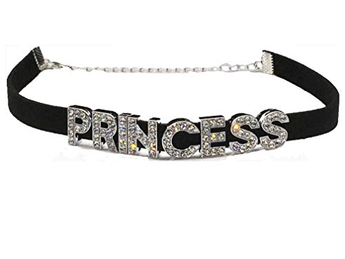 Knaughty Knickers Princess Rhinestone Choker Necklace DDLG for Daddys Owned Submissive Baby Girl -