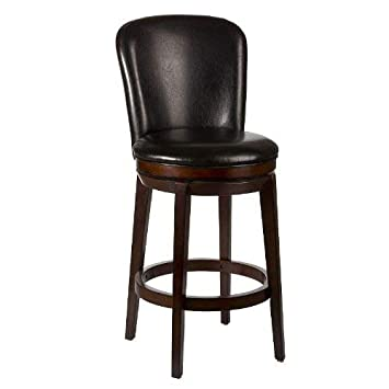Hillsdale Victoria Swivel Counter Stool, Chestnut
