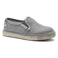 Girls Slip On Sequins Loafer