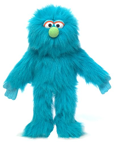 "14"" Blue Monster, Hand Puppet"