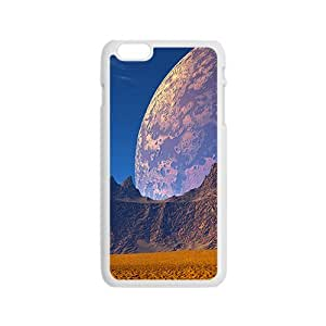 Abstract Planets And Mountains White Phone Case for Iphone6