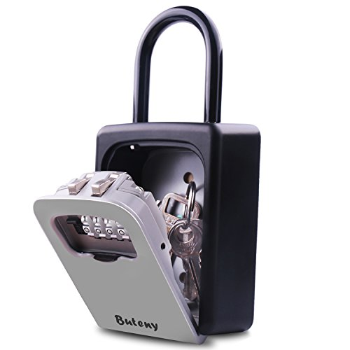 Key Lock Box - Combination Lockbox with Code for House Key Storage - Combo Door Locker