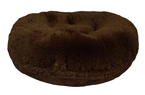 BESSIE AND BARNIE 42-Inch Bagel Bed for Pets, Large, Grizzly Bear by BESSIE AND BARNIE