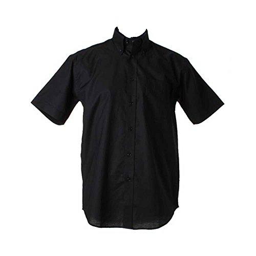 Kustom Kit Mens Workwear Oxford Short Sleeve Shirt Black