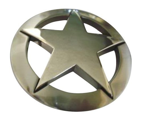 Famous Star Belt Buckle - Famous Silver Marshall Law Texas Star Belt Buckle