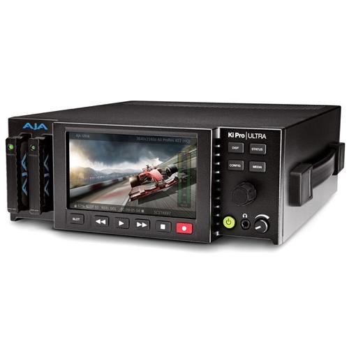 AJA Ki Pro Ultra 4K Video Recorder and Player with Built-in HD LCD Monitor, 4K 60p Support by Aja