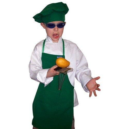 Green Starbucks Color Barista Medium Set Apron & Hat Fits 8-12 Yr Olds Kids Children]()