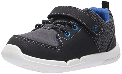 - Stride Rite Boys' SRT Skye Sneaker, Black/Blue, 6.5 W US Toddler