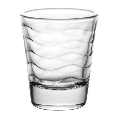 (BarConic 1.5 ounce Clear Wave Shot Glass (Case of 72))