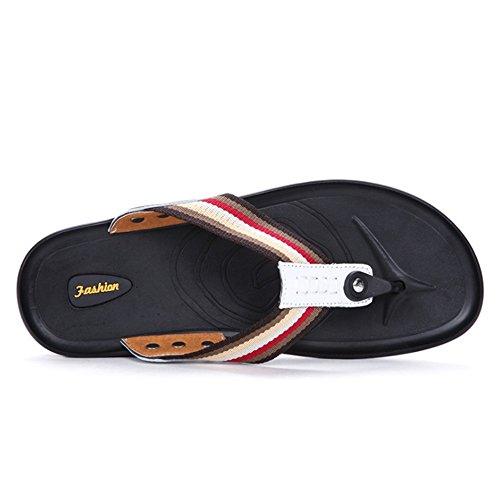 Color Zapatillas Wangcui para De Dedo Hombres Negro Verano Blanco De Transpirables Sandalias Y Antideslizantes 42 tamaño Clip con EU gBwCqBOx