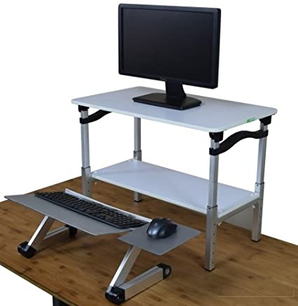 Incredible Lift Standing Desk Converter Tall Adjustable Height Portable Affordable Sit To Stand Up Desktop Riser Conversion Stand With Negative Tilt Keyboard Download Free Architecture Designs Crovemadebymaigaardcom