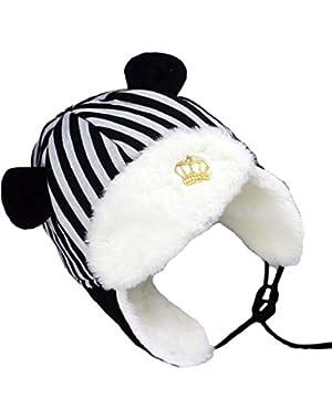 Baby Winter Hats Kids Beanie Hats Boys Knit Warm Caps Toddler Cute Cartoon Hat for Autumn Winter