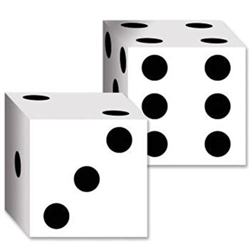 Dice Card Boxes 2 Pack Vegas Gambling Party -