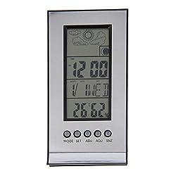 Indoor Outdoor Wireless Thermometer Weather Station Alarm Clock Calendar